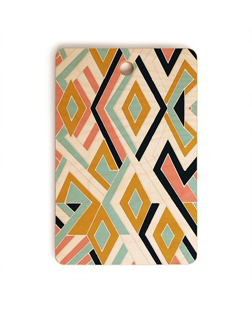 Deny Designs Mosaic Geometric Shapes Rectangle Cutting Board