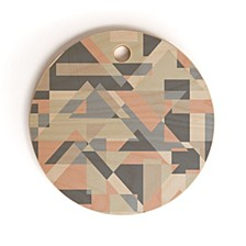 Geometric Play 2 Round Cutting Board