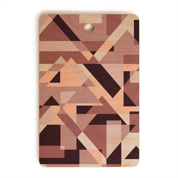 Deny Designs Geometric Play Rectangle Cutting Board
