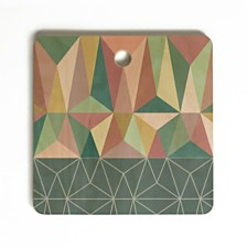 Deny Designs Nordic Combination 31 E Square Cutting Board