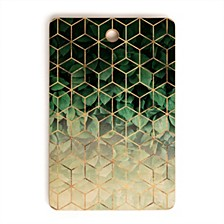 Leaves and Cubes Rectangle Cutting Board