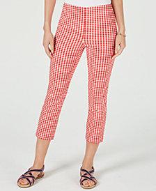 Charter Club Gingham-Print Capri Pants, Created for Macy's