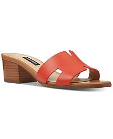 Nine West Aubrey Block-Heel Slide Sandals