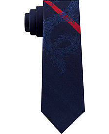 Tommy Hilfiger Men's Dragon Stripe Silk Tie