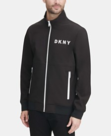 DKNY Men's Logo Graphic Bomber Jacket, Created for Macy's