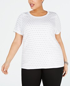 I.N.C. Plus Size Rhinestone T-Shirt, Created for Macy's
