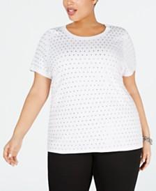 I.N.C. Plus Size Rhinestone T-Shirt, Created for Macy's