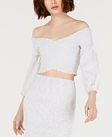 GUESS Trixie Off-The-Shoulder Crop Top