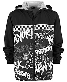 Big Boys Graffiti-Print Windbreaker, Created for Macy's