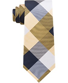Tommy Hilfiger Men's Bold Plaid Silk Tie