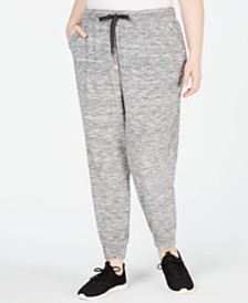 Ideology Plus Size Space-Dyed Joggers, Created for Macy's