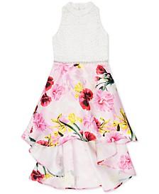 Speechless Big Girls High-Low Floral-Print Dress