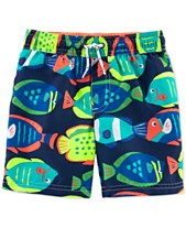 1a851d6b7e455 Carter's Toddler Boys Fish-Print Swim Trunks
