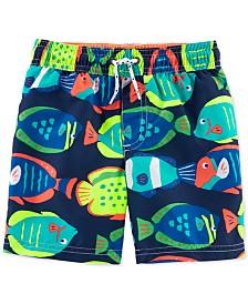 Carter's Toddler Boys Fish-Print Swim Trunks