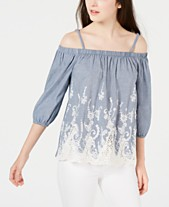 5d92eb148c914 BCX Juniors  Embroidered Off-The-Shoulder Top