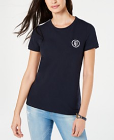Tommy Hilfiger Logo Side-Striped T-Shirt