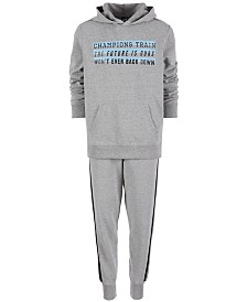 Ideology Big Boys Champions Graphic Hoodie & Striped Jogger Pants Separates, Created for Macy's