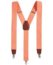 Men's Stretch Solid Suspenders, Created for Macy's