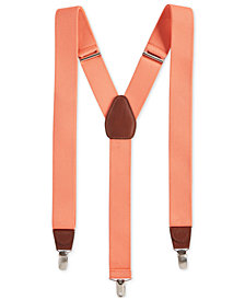 Club Room Men's Stretch Solid Suspenders, Created for Macy's