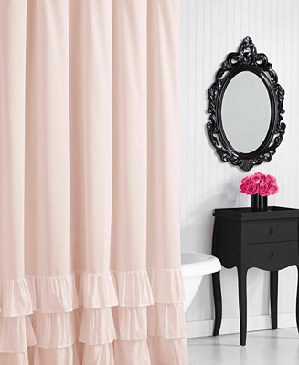 Solid Ruffled Shower Curtain by General