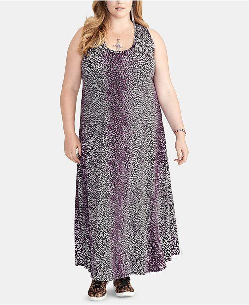 grande femmes a a Robe RoyRobes manches maxi imprimee et longues en jacinthe Rachel Combo pour brillante pour taille femmes f6yIgYb7v