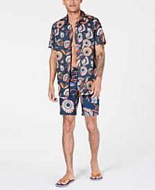Men's Daily Woven Graphic Shirt and Short
