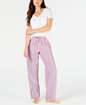 51fbd61937cc Charter Club Knit Short-Sleeve Top & Pajama Pants Sleep Separates, Created  for Macy's