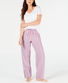 2b7f853e3 Charter Club Knit Short-Sleeve Top & Pajama Pants Sleep Separates, Created  for Macy's