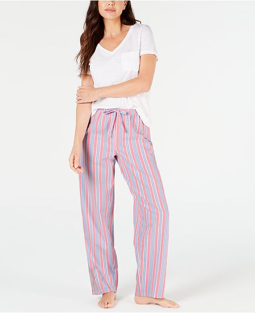 Charter Club Knit Short-Sleeve Top & Pajama Pants Sleep Separates, Created for Macy's