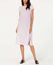 Eileen Fisher Side-Slit Cap-Sleeve Dress