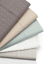 Woven Dot 4 piece Queen Sheet Set, 400 Thread Count Combed Cotton Blend