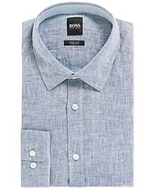 BOSS Men's Regular/Classic Fit Linen Shirt