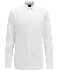 BOSS Men's Slim Fit Linen Shirt