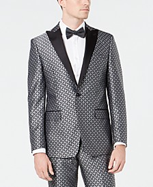 Men's Slim-Fit Medallion Jacquard Dinner Jacket