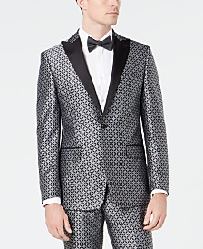 Tallia Men's Slim-Fit Medallion Jacquard Dinner Jacket