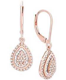 Diamond Teardrop Earrings in 14k White Gold (1/2 ct. t.w.), Created for Macy's