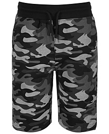 Big Boys Lewis Regular-Fit Camouflage Taped Drawstring Shorts
