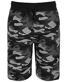 Univibe Big Boys Lewis Regular-Fit Camouflage Taped Drawstring Shorts
