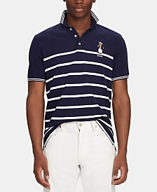 Polo Ralph Lauren Men's Classic-Fit Captain Bear Polo Shirt, Created for Macy's