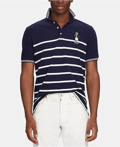 55cd898ee ... Polo Ralph Lauren Men's Classic-Fit Captain Bear Polo Shirt, Created  for Macy's ...