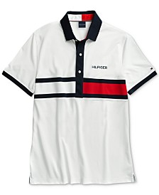 Tommy Hilfiger Adaptive Men's Logo Graphic Polo with Magnetic Closures
