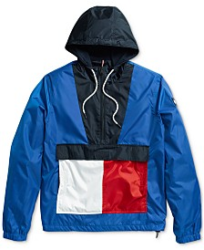 Tommy Hilfiger Adaptive Men's Colorblocked Jacket with Extended Zipper Pull