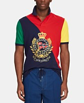 d34aea1e4ca Polo Ralph Lauren Men s Nautical Crest Classic-Fit Stretch Mesh Polo Shirt