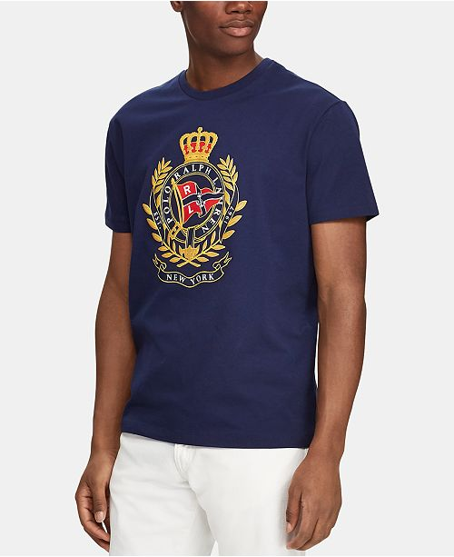 Polo Ralph Lauren Men's Crest Print Classic-Fit T-Shirt