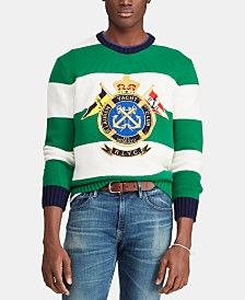 Polo Ralph Lauren Men's Embroidered Nautical Crest Striped Sweater