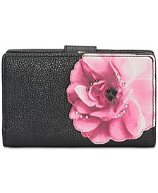 Bifold Floral Leather Wallet