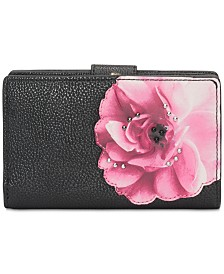 Calvin Klein Bifold Floral Leather Wallet