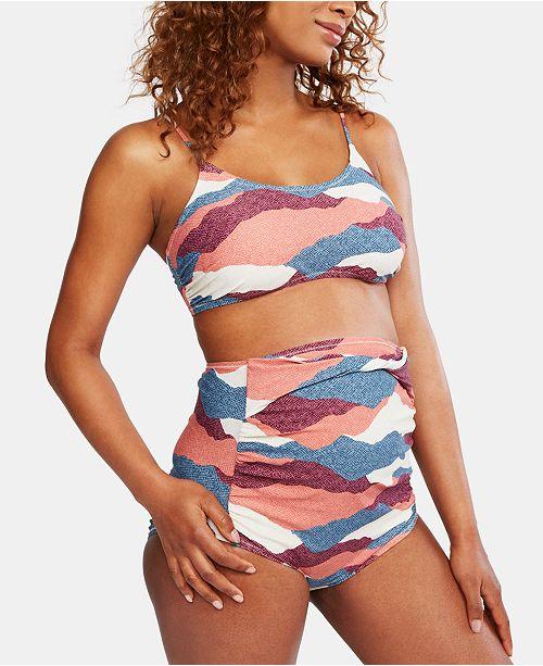 Motherhood Maternity Printed Bikini Swimsuit