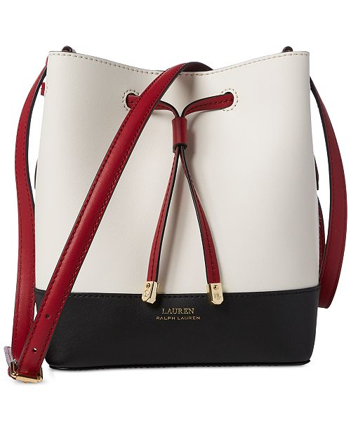 Lauren Ralph Lauren Dryden Debby II Leather Drawstring Bag
