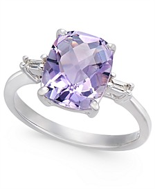 Pink Amethyst (2-7/8 ct. t.w.) & Diamond Accent Statement Ring in Sterling Silver